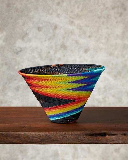 """Rainbow""Telephone Wire Bowl"