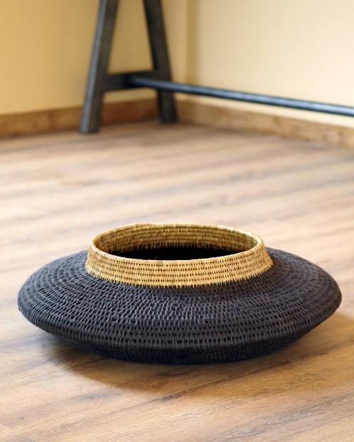 """""""1Tiers""""Woven  Floor Basket"""