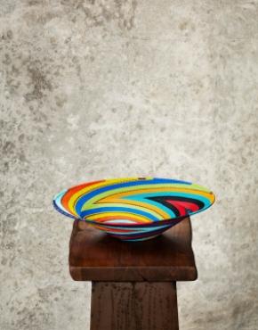 """Rainbow""Telephone Wire Platter (Big)"