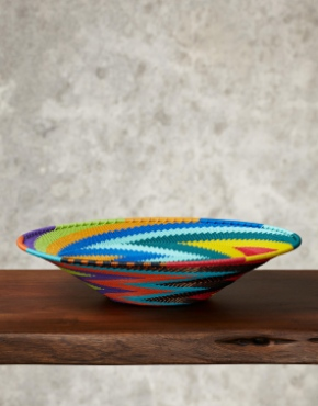 """Rainbow""Telephone Wire Platter"