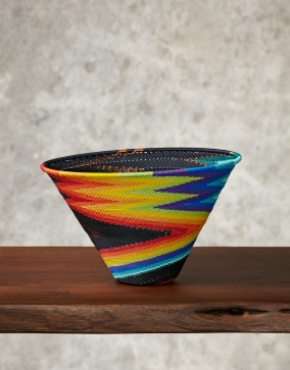 """Rainbow""Telephone Wire Bowl"