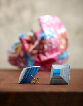 Papier mache earring