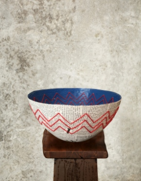 """LATEST NEWS"" PAPIER MACHE BOWL"