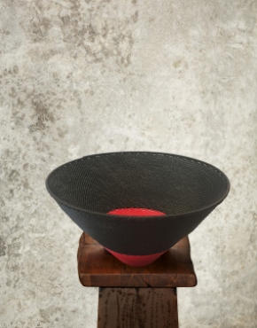 """""""Red Dot"""" Telephone Wire Bowl"""