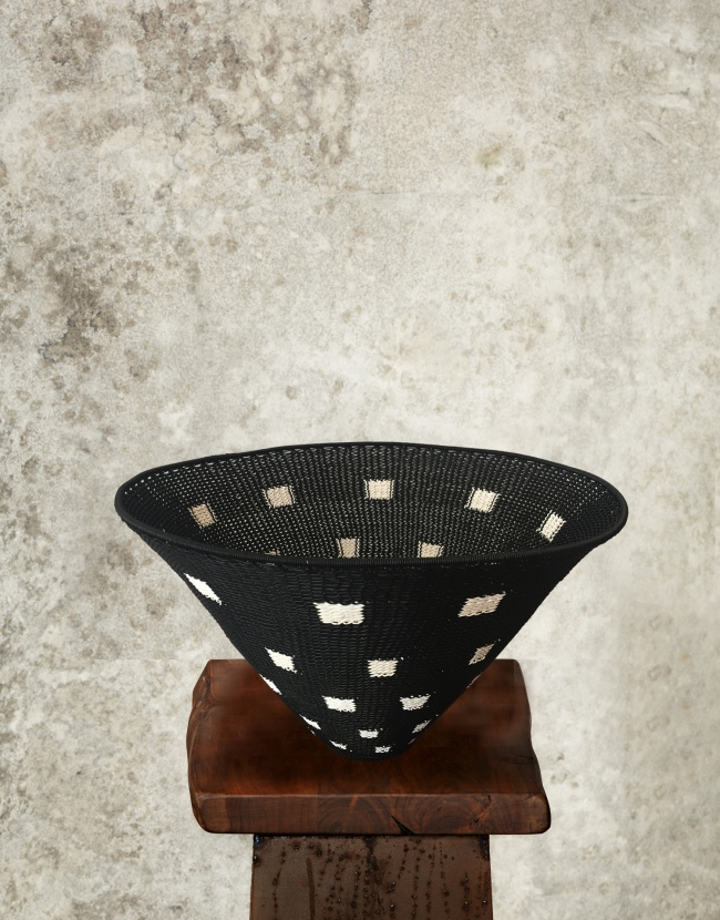 """""""SQUARED """" Telephone Wire Bowl"""